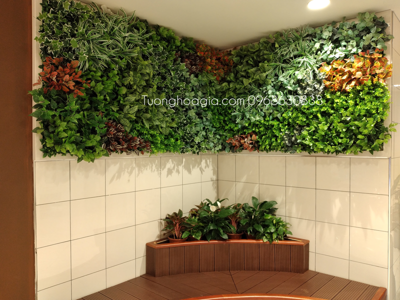 tường cây giả